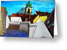 Szentendre - View From The Castlehill Greeting Card