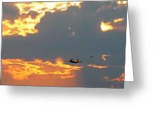 T-28 Trojan Fighter Plane Greeting Card