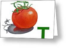 T Art Alphabet For Kids Room Greeting Card by Irina Sztukowski