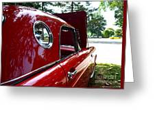 Vintage Car - Opera Window T-bird - Luther Fine Art Greeting Card