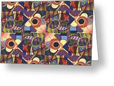 T J O D Tile Variations 10 Greeting Card