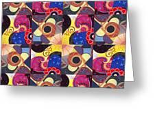T J O D Tile Variations 14 Greeting Card