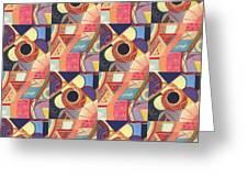 T J O D Tile Variations 19 Greeting Card