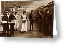 The Red Cross And St. John's Ambulance Brigade During Ww1 England Greeting Card by The Keasbury-Gordon Photograph Archive