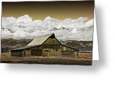 T.a. Moulton Barn In The Grand Tetons Greeting Card