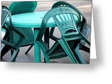 Table And Chairs. Greeting Card