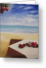 Table At The Beach Greeting Card