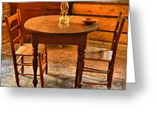 Table For Two Greeting Card