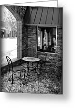 Table For Two Bw Greeting Card