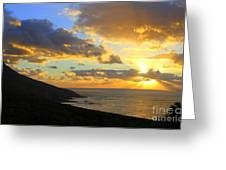 Table Mountain South Africa Sunset Greeting Card