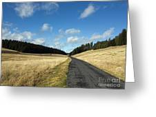 Tableland With Road Greeting Card