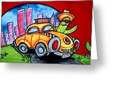 Taco Taxi Greeting Card