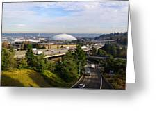 Tacoma Dome And Auto Museum Greeting Card