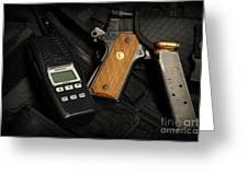 Tactical Gear - Gun  Greeting Card