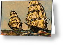 Taeping And Ariel, British Tea Clippers Greeting Card