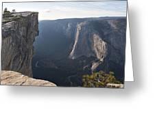 Taft Point Yosemite Greeting Card