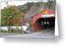 Taftsville Covered Bridge Vermont Greeting Card