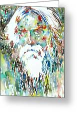 Tagore Watercolor Portrait Greeting Card