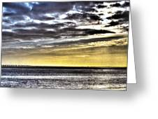 Big Clouds Over Tagus River Greeting Card