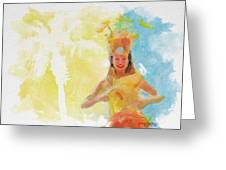 Tahitian Dancer Greeting Card