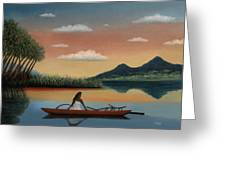Tahitian Morning Greeting Card by Gordon Beck