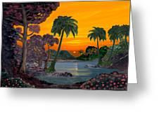 Tahitian Sunset Greeting Card