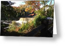 Tahquamenon Falls With My Iphone Greeting Card