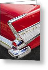 Tail Fins Are In 1957 Chevy Greeting Card