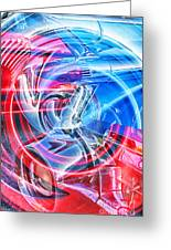 Tail Light Abstract Greeting Card