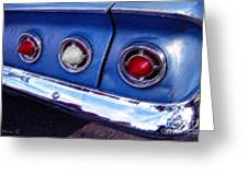 Tail Lights And Fenders Greeting Card