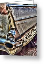 Taillight 1957 Chevy Bel Air Greeting Card