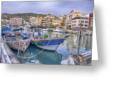 Taiwan Boats Greeting Card