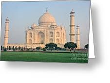 Taj Mahal At Sunrise - Agra - Uttar Pradesh - India Greeting Card