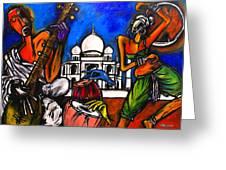 Taj Mahal Dancers Greeting Card