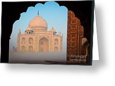 Taj Mahal Dawn Greeting Card