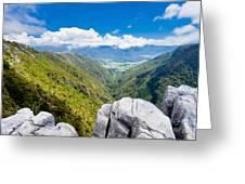 Takaka Hill Limestone Outcrops Takaka Valley In Nz Greeting Card