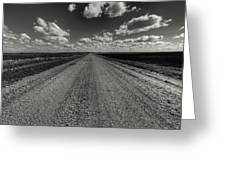 Take A Back Road Bnw Version Greeting Card