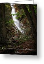 Take A Hike Greeting Card by Bill Wakeley