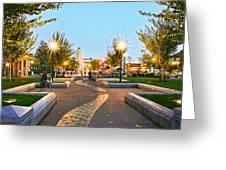 Take A Walk Downtown  Greeting Card