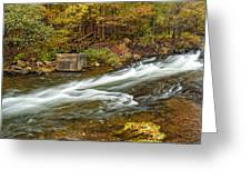 Take Me To The Other Side Beaver's Bend Broken Bow Lake Flowing River Fall Foliage Greeting Card