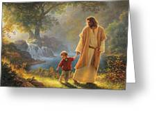Take My Hand Greeting Card by Greg Olsen