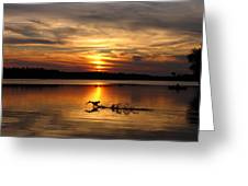 Take Off Forge Pond Greeting Card
