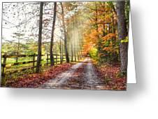 Take The Back Roads Greeting Card