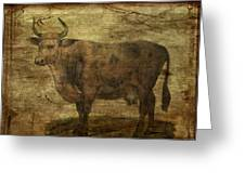Take The Cow By The Horns Greeting Card