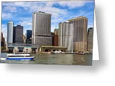 Take The Ferry - Manhattan Skyline Greeting Card