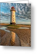 Talacre Lighthouse Sunset Greeting Card