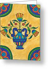Talavera Flora 2 Greeting Card