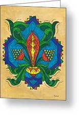 Talavera Flora Greeting Card
