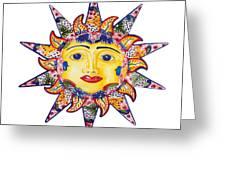 Talavera Sun Greeting Card
