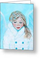 Talini Little Snow Angel Bringing Warmth On Cold Days Greeting Card